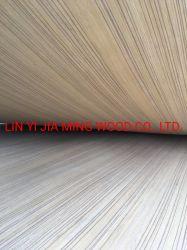 El contrachapado de madera de teca en línea recta Fancy EV/MDF enchapado de madera para madera Recon puerta