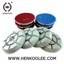4 pulgadas de forma de concha de tortuga piso abrasivo pads de pulido Herramientas Diamantadas para Mármol y Granito/cemento