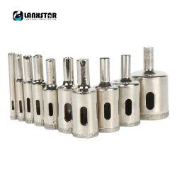 10PC prático de 6mm de diâmetro~30mm orifício de perfuração com revestimento de Diamante de perfuração de alvenaria com broca de Núcleo de perfuração de vidro definido