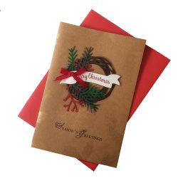 Merry Christmas Tree 3D de la Tarjeta Regalo Tarjeta Pop-up hechos a mano tarjetas de felicitación personalizada
