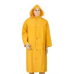 Waterdichte Regenkleding van de Vrije tijd van de Mijnbouw van de Regenjas Longcoat van 2-PC van PVC/Polyester de Werkende