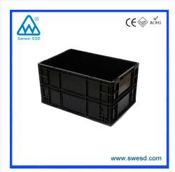 Salle blanche industrielle antistatique ESD Boîte en plastique de stockage / conteneur antistatique pour le chiffre d'affaires