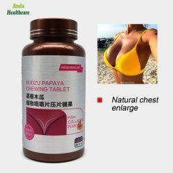 高品質の補足の胸の機能拡張、胸のヘルスケア(600mg/タブレットの&timesのためのタブレットをかみ砕く自然な草のKudzuのパパイヤ; 60のタブレット)