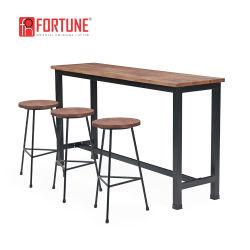 Ristorante Industriale Coffee Shop Bar Round Wood Bar Tavolo E Sgabello