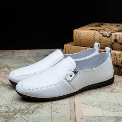 Beiläufige Schuh-weiße Müßiggänger-lederne Schuhe der heißen Art-Männer (FFMC-8)