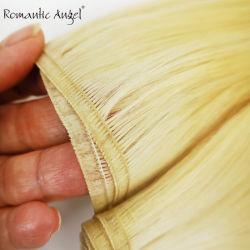 Neues Mikro gedichtete dünne flache Silk einschlagwebart Remy Menschenhaar-Extensionen