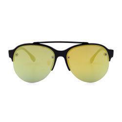 إطار أسود مع نظارات شمسية للكمبيوتر ذي مرآة صفراء للأطفال