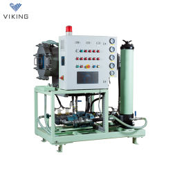 Turbina a coalescenza e separazione Viking filtrazione dell'olio/purificazione dell'olio del trasformatore/disidratazione del filtro dell'olio Attrezzatura/attrezzatura di spurgo olio per olio idraulico