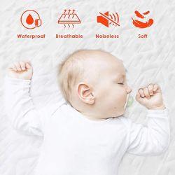 Ensemble de literie de polyester blanc Memory-Foam Hôtel Lit bébé Surmatelas Queen Size