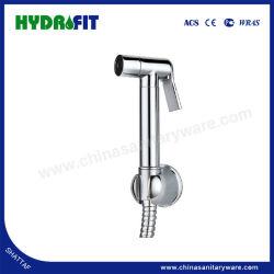 Hot Sale poignée Shattaf tenue Bidet pulvérisateur Shattaf ensemble en laiton avec douche flexible (HY2605)