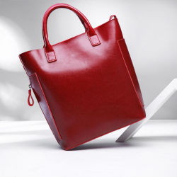 Ceras de luxo verdadeiro Bufflo Leather Tote