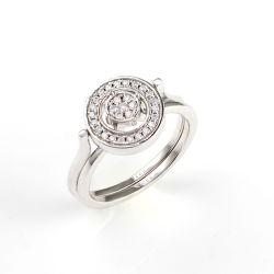 Juwelen 925 van de manier de Echte Zilveren Vastgestelde Ring van de Juwelen van de Diamant