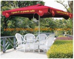 En el exterior de aluminio de Plaza de la sombrilla, paraguas, Patio de la tabla de fundición Paraguas, Jardín sombrilla