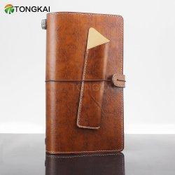 Viajante de couro oficial portátil de bolso