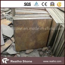 Ardesia/pietra arrugginite naturali dell'ardesia per l'abbellimento pietra/pavimentazione/parete