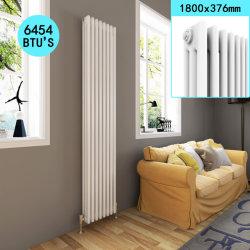 Sally 460X1800mm central de style traditionnel de la Fonte le radiateur avec du blanc pour la maison de la colonne verticale triple/Salle de bains/chambre/Cuisine/Salle de séjour