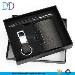 Caixa de oferta da empresa titular do cartão de visita personalizados Caneta Escritório Key Ring Conjunto de Oferta
