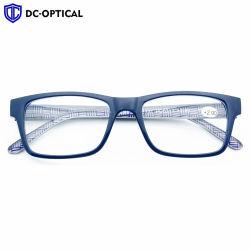 Vetri di lettura di plastica dell'occhio degli occhiali dell'obiettivo chiaro di qualità superiore freddo di figura di modo per l'uomo