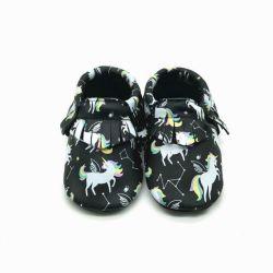 De zeer Comfortabele Echte Schoenen van de Baby van het Leer