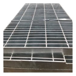 Griglia per barre in acciaio saldato per impieghi pesanti finitura galvanizzata con immersione a caldo Barra di supporto a carico piatto per l'industria petrolifera e del gas