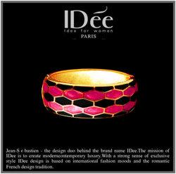 IDee Jewelry Enamel 18k Gold Bracelet