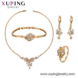 Goldfarben-Halsketten-Schmucksachen mit Armband-Set