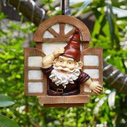 Little Elf Open Window Tree Resin Crafts Sculpture for Decoration