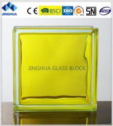 Jinghua de haute qualité dans de couleur jaune citron en brique de verre/Block