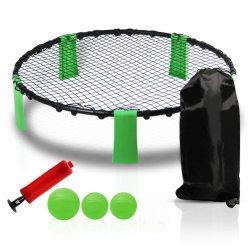 Belüftung-Strand-Volleyball-Spiel-gesetztes im Freienteam-Sport-Rasen-Eignung-Gerät mit 3 Kugel-Volleyball-Netz