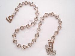 أنيق صديرية شريط مع مجوهرات وأحجار