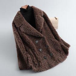 Женская осенне-зимняя одежда, пальто из натуральной овечьей шерсти, женская верхняя одежда из натуральной шерсти, куртки из меха ягненка, Abrigo Mujer