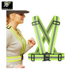 Cinghia fluorescente leggera della maglia di funzionamento di sicurezza di traffico per funzionamento e la guida fuori laterali