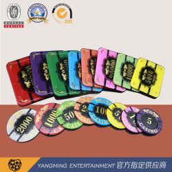 Acrílico High-Transparent bronceado Diseño Tigre fichas de Casino Ym-Cp11-12