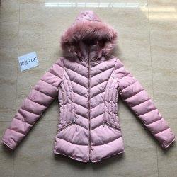 새로운 디자인 패션 따뜻한 겨울 레이디 페이크 다운 재킷 코트 탈부착식 후드 모피