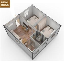 Viver a estrutura de aço 2 Quarto Construções prefabricadas Recipiente Solar House