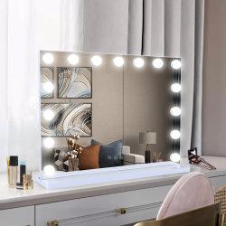 패션 미녀 대형 메이크업 배니티 할리우드 장식용 거울 조명 전구 및 MDF 기본
