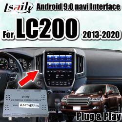 Lsailt Plug&Play Multimedia-videoschnittstelle des Android-9.0 für Land-Kreuzer 2014-2019 LC200 mit eingebautem iPhone/androidem Carplay