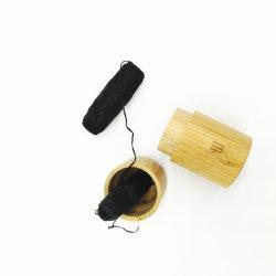 활성화한 목탄 Floss를 가진 유기 대나무 섬유는 0의 폐기물 유리제 단지 자연적인 실크 대나무 치실을 감는다