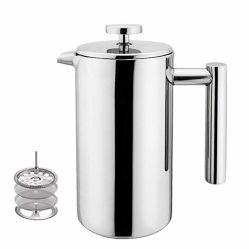 Fpr0351ステンレス鋼のCafetiereのフランス人の出版物のコーヒー濾過器の鍋の茶メーカー12oz
