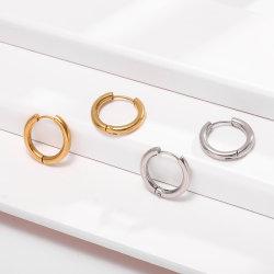 [سترلينغ سلفر] دائرة مستديرة [هوغّي] إطار حلول لأنّ نساء رجال نمو مجوهرات بسيطة