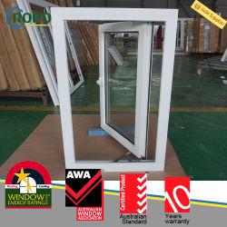 Maison résidentielle de PVC en verre trempé Casement swing out Windows