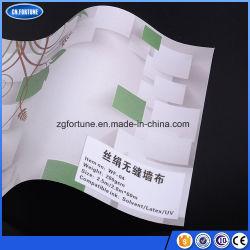광고 물자 실크는 직물 Eco 직물 벽 종이, 디지털 인쇄할 수 있는 벽지를 좋아한다