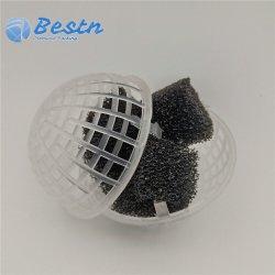 Bola flutuante Suspensão porosa PP material de embalagem biológica bolas aberto a esfera da gaiola plástica
