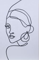 لوحة رأسية من القماش المجردة رسم أفقي معلق