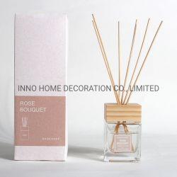 2020 difusor de aroma madera Botella de vidrio 100ml personalizada de la decoración del hogar la aromaterapia