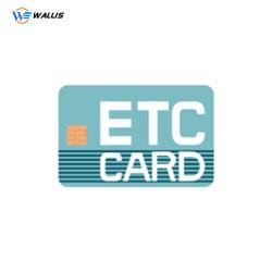 Biglietto da visita trasparente del PVC della plastica della radura di formato standard Cr80