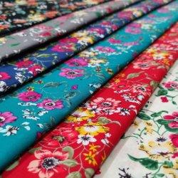 Moda textil de algodón tejida Poplin 100 Impresión plana tejido textil hogar y muebles de tela y ropa de tela