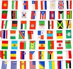 Les événements internationaux participant à la Conférence de la décoration bars sportifs Bunting drapeaux