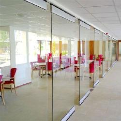흠이 없는 방 칸막이 무프레임 알루미늄 슬라이딩 유리 사무실 파티션 벽