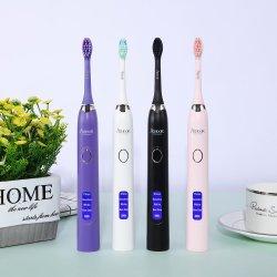 Sonic Cepillo de dientes eléctrico recargable inalámbrico LCD cabezal reemplazable